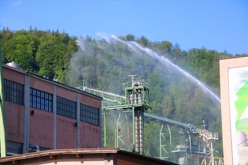 Schwefeldioxid Austritt bei AustroCel Hallein
